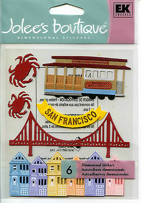 "Jolee's Boutique ""SAN FRANCISCO"" Dimensional Scrapbooking Stickers - X45"