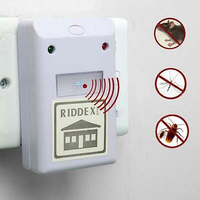 EU Plug Mice Repeller Ultrasonic Electronic Pest Rodent Device Anti Mosquito
