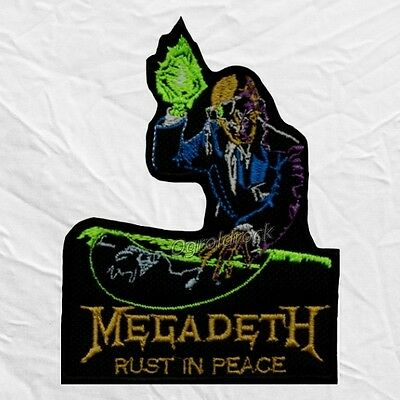 Megadeth Rust in Peace Logo Embroidered Patch Dave Mustaine DJ Rock Album