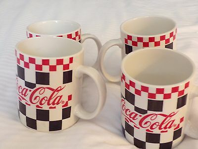 Coca-cola mugs set of (4) from 1996 by Gibson