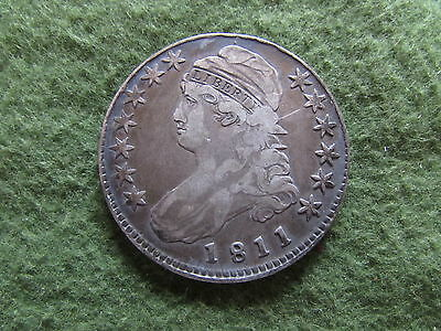 1811 Capped Bust Silver Half Dollar Overton O 112 Small 8 Variety 50 Cent Coin