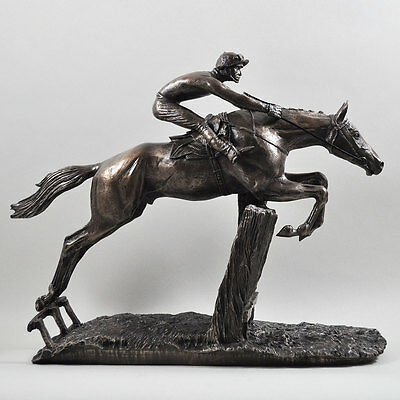 AT FULL STRETCH Bronze Horse Racing Sculpture DAVID GEENTY New & Boxed Superb!