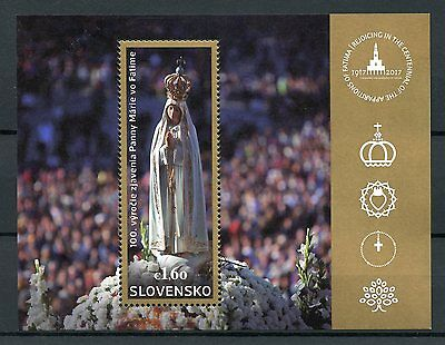 Slovakia 2017 MNH Our Lady of Fatima Apparitions 100th Anniv 1v M/S Stamps