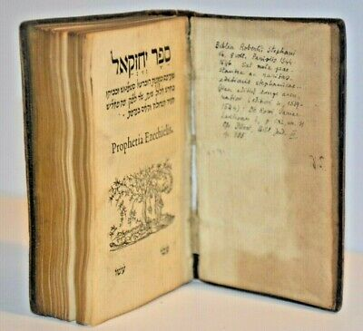 1539 Bible Paris Extremely rare book Jonah Judaica Hebrew antique France NICE