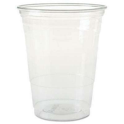 SOLO Cup Company Plastic Party Cold Cups, 16 oz, Clear, 50 pack New