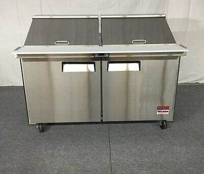 "60"" SANDWICH PREP New UNIT PREP TABLE Cooler 60 5' MEGA TOP 24 Pan Refrigerator"