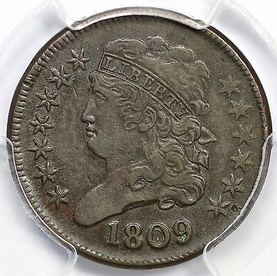 1809 C-4 R-2 PCGS VF 35 Circle in 0 Classic Head Half Cent Coin 1/2c
