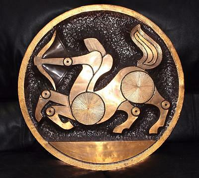 Retro Vintage Copper Wall Art Picture Sculpture Saggitarius