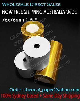 200Rolls 76x76mm 1PLY Bond Paper Kitchen Roll Receipt Roll