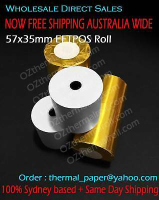 50 Rolls 57x35mm Thermal paper Receipt Roll eftpos roll