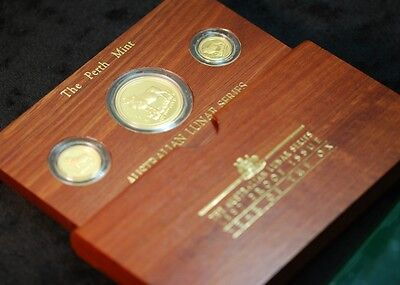 1997 Australia 3-Coin Gold Lunar Ox Proof Set (Series I)