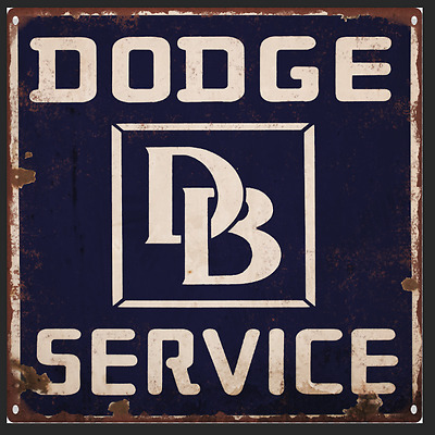 Dodge Service Vintage Look Reproduction Advertising Metal Sign 12 x 12  60003