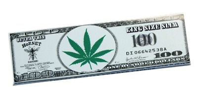 Hornet King Size Slim Hemp Ultra Thin Cigarette Tobacco Rolling Papers 32 Leaves