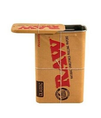 RAW Rolling Papers Branded Sliding Top Cigarette Tin Case