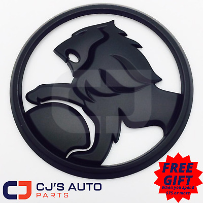 Matte Black 85mm Lion Badge to Suit Commodore VY S pac SS Front Grille