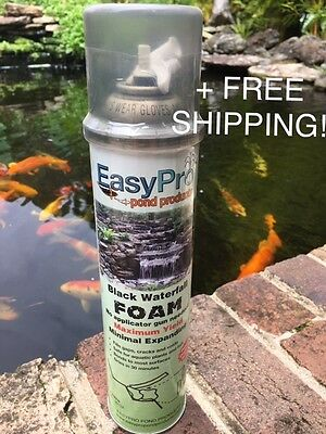 EasyPro Black Waterfall Foam 20oz Can for repairing pond leaks + FREE SHIPPING