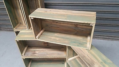 Timber Crate Wooden Fruit Box Recycled Timber Book Case Shelf