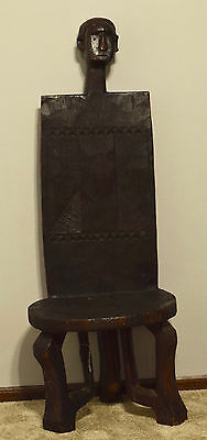 African Chair Tanzanian Carved Wood Male Chiefs Throne Male Chair