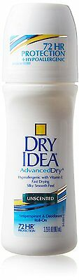 Dry Idea Roll On Antiperspirant Deodorant Unscented 3.25 Ounce