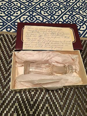 Antique 1894 Perfume Bottle-Amazing-Crystal Great Condition Must Read Story