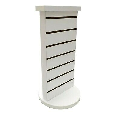 2-Sided Slatwall Counter Spinner White Display Rack Souvenior Stand Gift Display