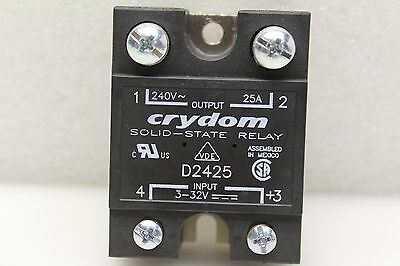 CRYDOM SSRELAY D2425, SPST-NO, 25 A, 280 Vrms, Panel, Screw, Zero Crossing NEW!