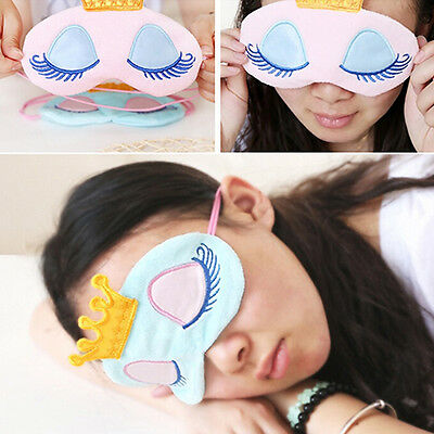 Useful Pure Silk Soft Sleeping Aid Eye Mask Cover Shade Travel Relax Blindfold