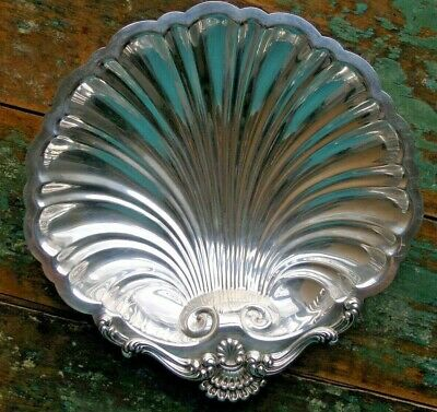 Ellmore Sterling Silver Footed Shell Form Bowl Dish