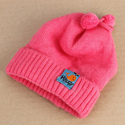Super Soft Hot Pink Baby Beanie Stretchy Knitted Newborn up to 4mths