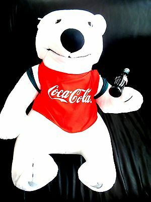 HUGE Coca-Cola Collectible Polar Bear Teddy Bear Plush Toy (20 INCHES)