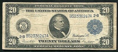 FR. 971a 1914 $20 TWENTY DOLLARS FRN FEDERAL RESERVE NOTE NEW YORK, NY VF
