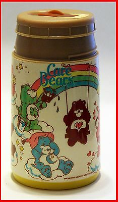 VINTAGE 80'S CARE BEARS THERMAL CUP Sippy Aladdin Cheer Good luck Grumpy Bear