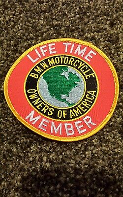 Vintage LIFETIME MEMBER BMW OWNERS OF AMERICA MOTOR  RACING PATCH