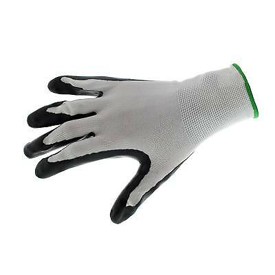 Nitrile Dipped Gloves 5 Pack Puncture Resistant Seamless Breathable Polyester
