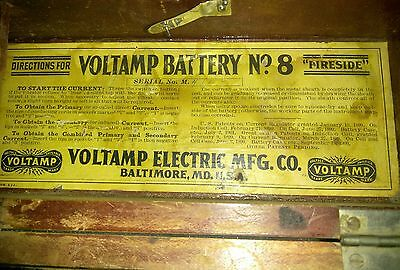 VINTAGE VOLTAMP BATTERY No. 8 ANTIQUE ELECTROTHERAPY QUACK MEDICINE  LATE 1800's