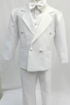 New Infant, Toddler & Boy Chrsitening Wedding Easter Formal Tuxedo Suit sz:S-7