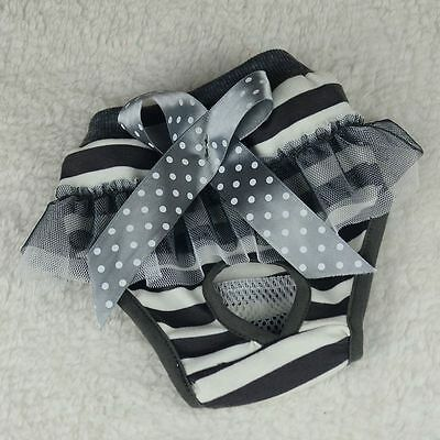 Pet Dog Puppy Lace Bow Diaper Pants Physiological Sanitary Short Nappy Underwear