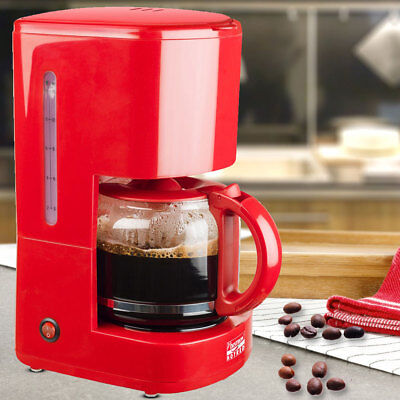 Design Coffee Machine Glass Jug Foldable 15 Cups Filter Measuring Spoon Switch