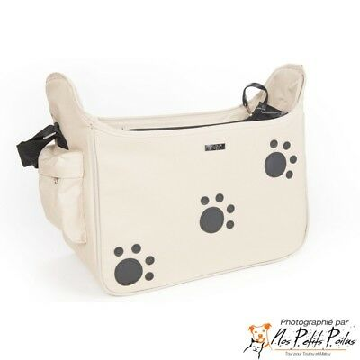 Sac de transport pattes beige Doogy Fashion