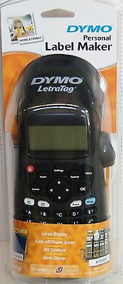 Brand New DYMO LetraTag Portable Personal Label Maker Labeller LT-100H Black AUS