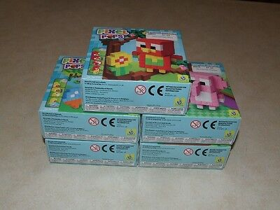 Orb Factory - Pixel Pops x 5 - Parrot/Duck/Elephant/Hedgehog/Panda - Kids Craft