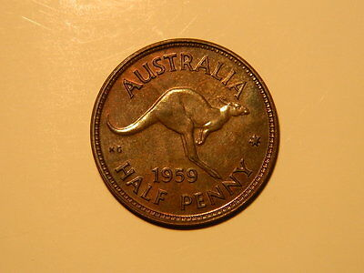 1959m AUSTRALIAN HALF PENNY (PROOF COIN)