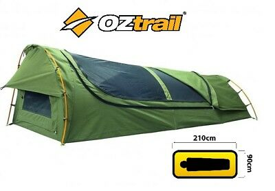 NEW MODEL Oztrail Mitchell Expedition Single Swag (PVC Base) Green CSW-MITE-D