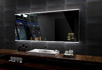 LED illuminated Mirror BONA 140x80 cm | Modern design | Wall mounted