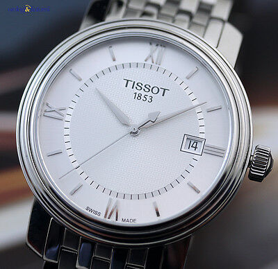Tissot Men's Bridgeport Quartz 40mm Steel on Steel Bracelet Silver Face