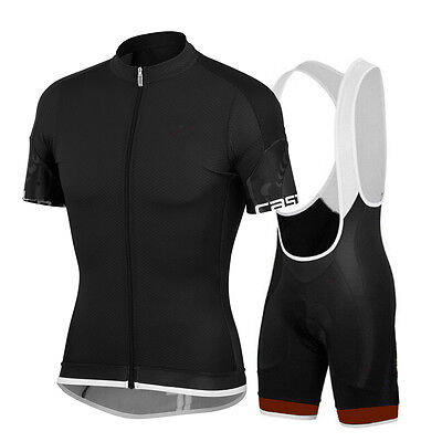 Men Cycling Jersey Padded Bib Knicks Men's Short Sleeve Cycle Clothing Set