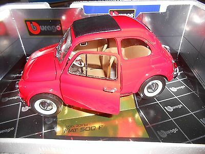 Fiat 500 F rossa 1965 cod 3304 Burago gold collection 1/16 no 1/18 1/10 nuova