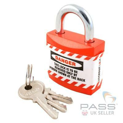 Jacket Padlocks - Small Size - Key Different-Red