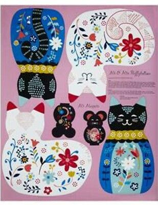 Curious Cats * Cat & Mouse Pillows Panel * New * In Stock * Free Post *