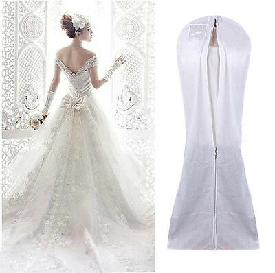2PCS White Breathable Garment Dustproof Cover Bags/ Protectors Wedding Dress UK